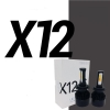 Kit Cree Led X12 Cambia 3 Colores 32000 Lumenes 9005